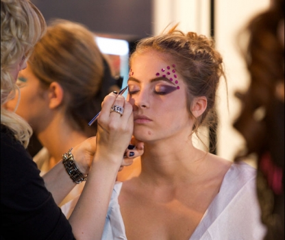 Dior make-up catwalkshow
